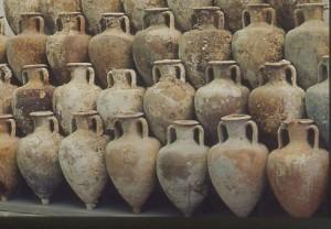 jarres romaines souvent contenant de la nourriture conservée dans le miel