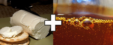 miel et fromage de chèvre ou roquefort